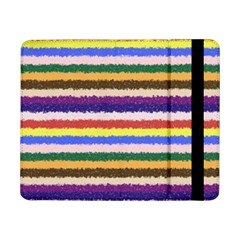 Horizontal Vivid Colors Curly Stripes   1 Samsung Galaxy Tab Pro 8 4  Flip Case by BestCustomGiftsForYou