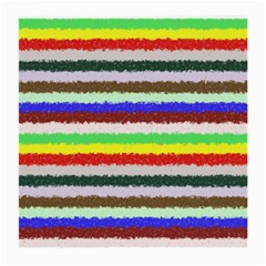 Horizontal Vivid Colors Curly Stripes   2 Glasses Cloth (medium, Two Sided)