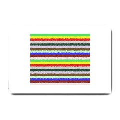 Horizontal Vivid Colors Curly Stripes   2 Small Door Mat by BestCustomGiftsForYou
