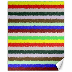 Horizontal Vivid Colors Curly Stripes   2 Canvas 11  X 14  (unframed) by BestCustomGiftsForYou