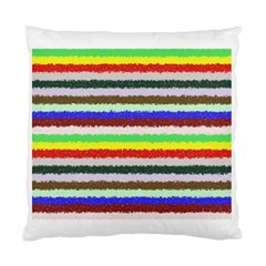 Horizontal Vivid Colors Curly Stripes   2 Cushion Case (single Sided)  by BestCustomGiftsForYou