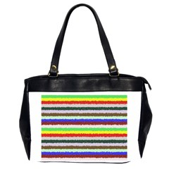 Horizontal Vivid Colors Curly Stripes   2 Oversize Office Handbag (two Sides)