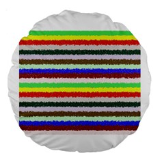Horizontal Vivid Colors Curly Stripes - 2 18  Premium Round Cushion  by BestCustomGiftsForYou