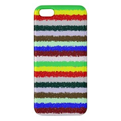 Horizontal Vivid Colors Curly Stripes   2 Iphone 5s Premium Hardshell Case by BestCustomGiftsForYou