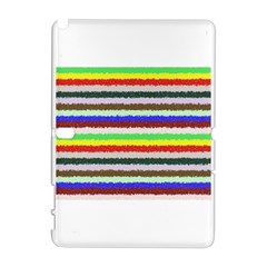 Horizontal Vivid Colors Curly Stripes   2 Samsung Galaxy Note 10 1 (p600) Hardshell Case by BestCustomGiftsForYou