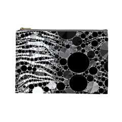 Zebra Print Bling Abstract Cosmetic Bag (large) by OCDesignss