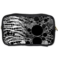 Zebra Print Bling Abstract Toiletries Bag (two Sides) by OCDesignss