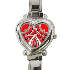 Fantasy Heart Italian Charm Watch  by Siebenhuehner