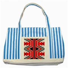Fantasy Blue Striped Tote Bag by Siebenhuehner