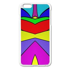 Abstract Apple Iphone 6 Plus Enamel White Case by Siebenhuehner