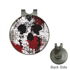 Skull Grunge Graffiti  Hat Clip With Golf Ball Marker by OCDesignss