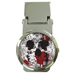 Skull Grunge Graffiti  Money Clip With Watch by OCDesignss