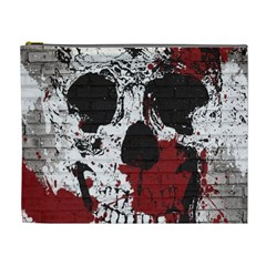 Skull Grunge Graffiti  Cosmetic Bag (xl) by OCDesignss