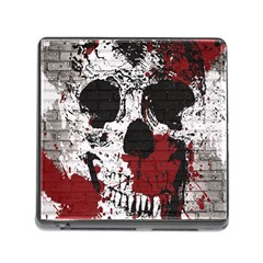 Skull Grunge Graffiti  Memory Card Reader With Storage (square) by OCDesignss