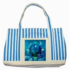 Magician  Blue Striped Tote Bag by icarusismartdesigns