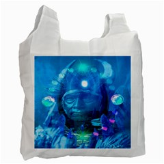 Magician  White Reusable Bag (two Sides) by icarusismartdesigns