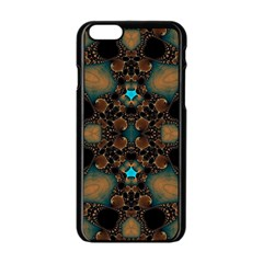 Elegant Caramel  Apple Iphone 6 Black Enamel Case by OCDesignss