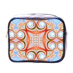 Fractal Abstract  Mini Travel Toiletry Bag (one Side)