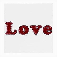 Love Typography Text Word Glasses Cloth (medium) by dflcprints