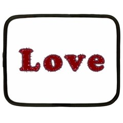 Love Typography Text Word Netbook Sleeve (large) by dflcprints