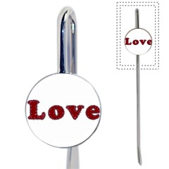 Love Typography Text Word Bookmark by dflcprints