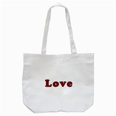 Love Typography Text Word Tote Bag (white) by dflcprints