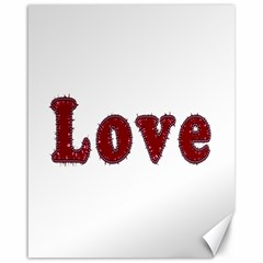 Love Typography Text Word Canvas 16  X 20  (unframed) by dflcprints