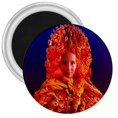 Organic Meditation 3  Button Magnet