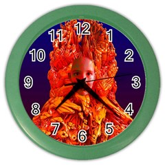 Organic Meditation Wall Clock (color) by icarusismartdesigns