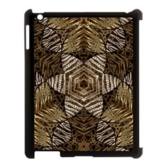 Golden Animal Print  Apple Ipad 3/4 Case (black) by OCDesignss