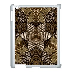 Golden Animal Print  Apple Ipad 3/4 Case (white) by OCDesignss