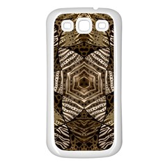 Golden Animal Print  Samsung Galaxy S3 Back Case (white) by OCDesignss