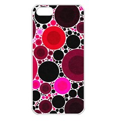 Retro Polka Dot  Apple Iphone 5 Seamless Case (white) by OCDesignss