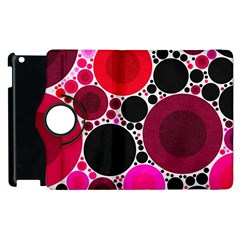 Retro Polka Dot  Apple Ipad 3/4 Flip 360 Case by OCDesignss