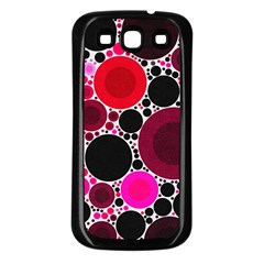 Retro Polka Dot  Samsung Galaxy S3 Back Case (black) by OCDesignss