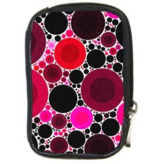 Retro Polka Dot  Compact Camera Leather Case by OCDesignss