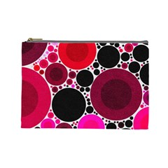 Retro Polka Dot  Cosmetic Bag (large) by OCDesignss
