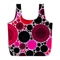 Retro Polka Dot  Reusable Bag (l) by OCDesignss