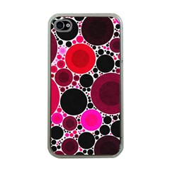 Retro Polka Dot  Apple Iphone 4 Case (clear) by OCDesignss