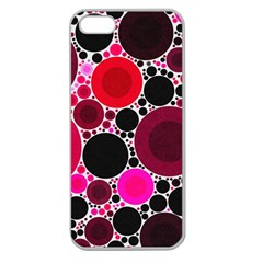 Retro Polka Dot  Apple Seamless Iphone 5 Case (clear) by OCDesignss