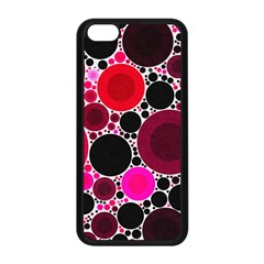 Retro Polka Dot  Apple Iphone 5c Seamless Case (black) by OCDesignss