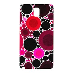 Retro Polka Dot  Samsung Galaxy Note 3 N9005 Hardshell Back Case by OCDesignss