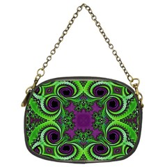 Purple Meets Green Chain Purse (two Sided)  by OCDesignss