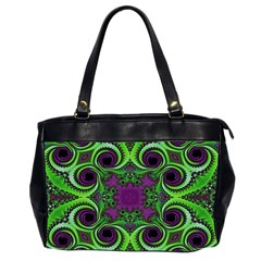 Purple Meets Green Oversize Office Handbag (two Sides) by OCDesignss