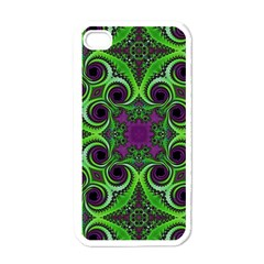 Purple Meets Green Apple Iphone 4 Case (white) by OCDesignss