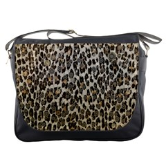 Chocolate Leopard  Messenger Bag