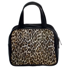 Chocolate Leopard  Classic Handbag (two Sides) by OCDesignss