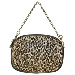 Chocolate Leopard  Chain Purse (two Sided)  by OCDesignss
