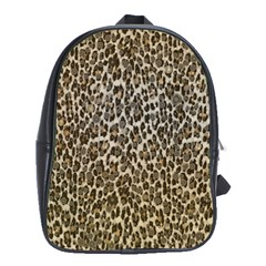 Chocolate Leopard  School Bag (large) by OCDesignss