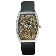 Chocolate Leopard  Tonneau Leather Watch by OCDesignss